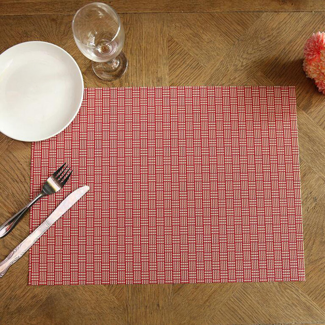 33x46cm Small Grids Design PVC Table Mat Multifunction Placemat Non Slip Coffee  Table Mats Free