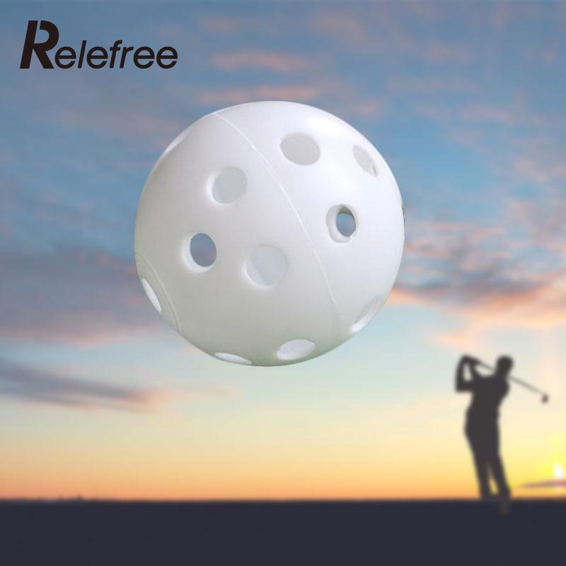 Relefree 1 шт. 43 мм воздушный поток полые Пластик Мячи для гольфа практика Теннис Мячи для гольфа учебного пособия спортивные Гольф Интимные акс...
