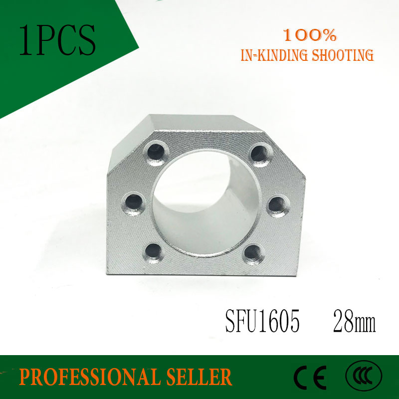 Free shipping SFU1605 SFU1610 aluminium 28mm alloy <font><b>ballscrew</b></font> <font><b>nut</b></font> housing bracket holder fit for <font><b>1605</b></font> ball screw image