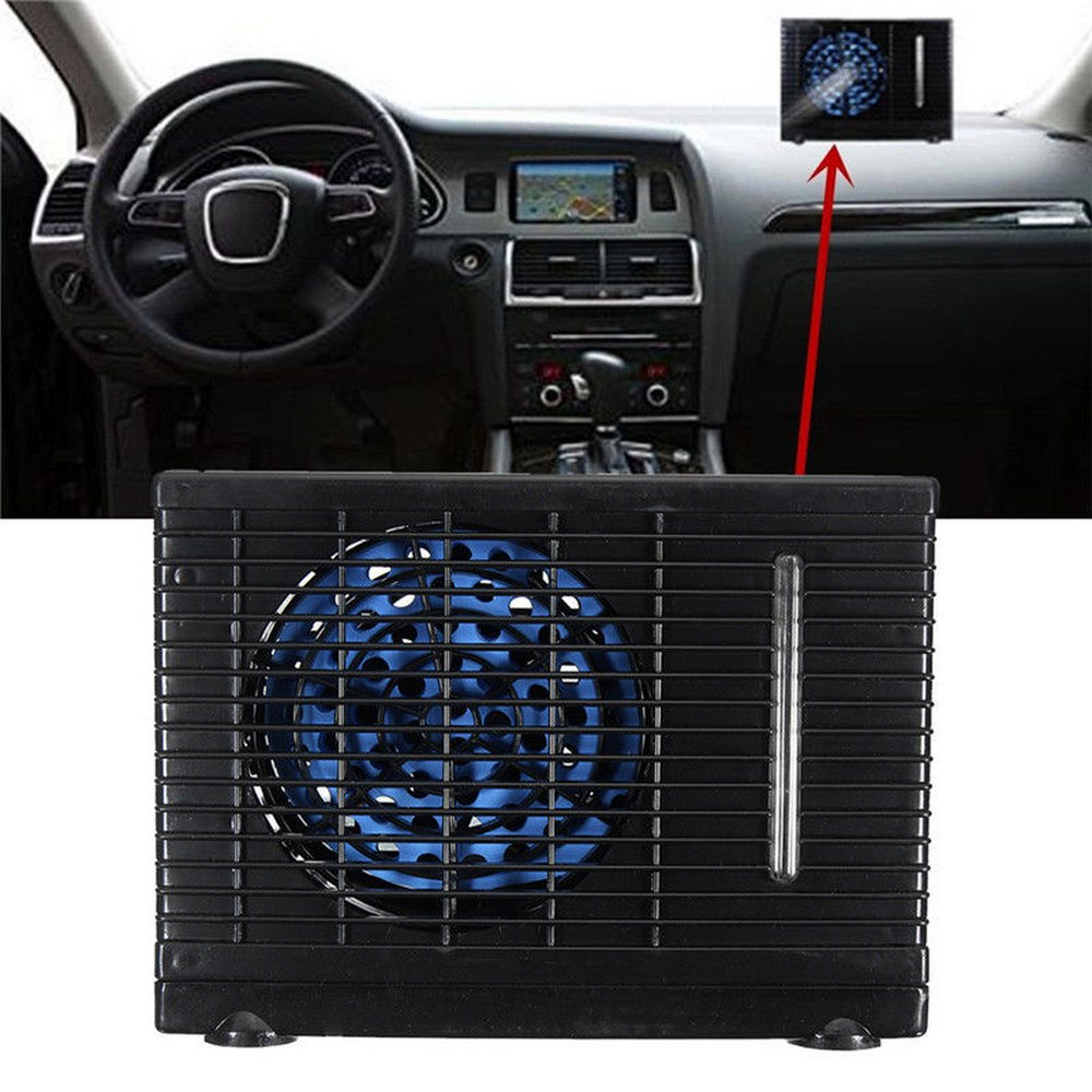 Image 3 - 12V 35W Mini Car Can Add Water Fan 12V Air Conditioning Installation Powered By Car Charger Adapter Car Interiors-in A/C & Heater Controls from Automobiles & Motorcycles