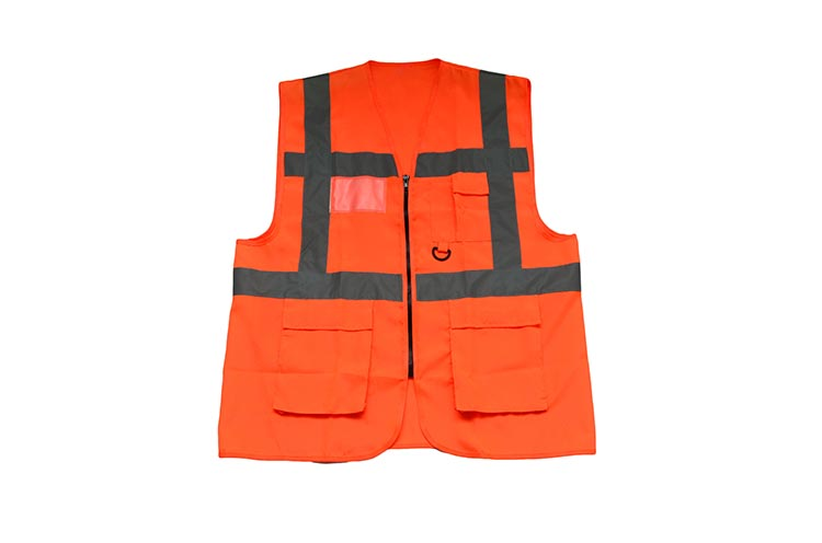 High Visibility Workwear Reflective Warning Vest fluorescence yellow high visibility