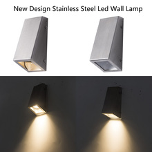 Hot Sell Led wall light Stainless steel with GU10 socket for outdoor and indoor use lamp waterproof 5w