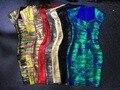 Оптовая 2016 новое платье несколько Цвет Стрейч плотный Высокого класса люкс коктейль Бинты платье (L1188)