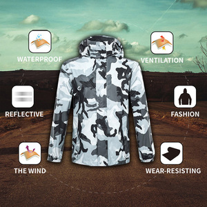 Image 4 - Chubasquero de camuflaje para hombre y mujer, ropa impermeable para exteriores, para pesca, Camping, lluvia
