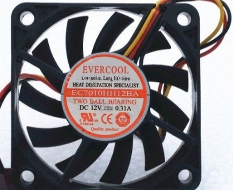 Free Shipping For EVERCOOL Cool 7 Cm 7010 12V 0.31A Three-line Cooling Fan EC7010HH12BA