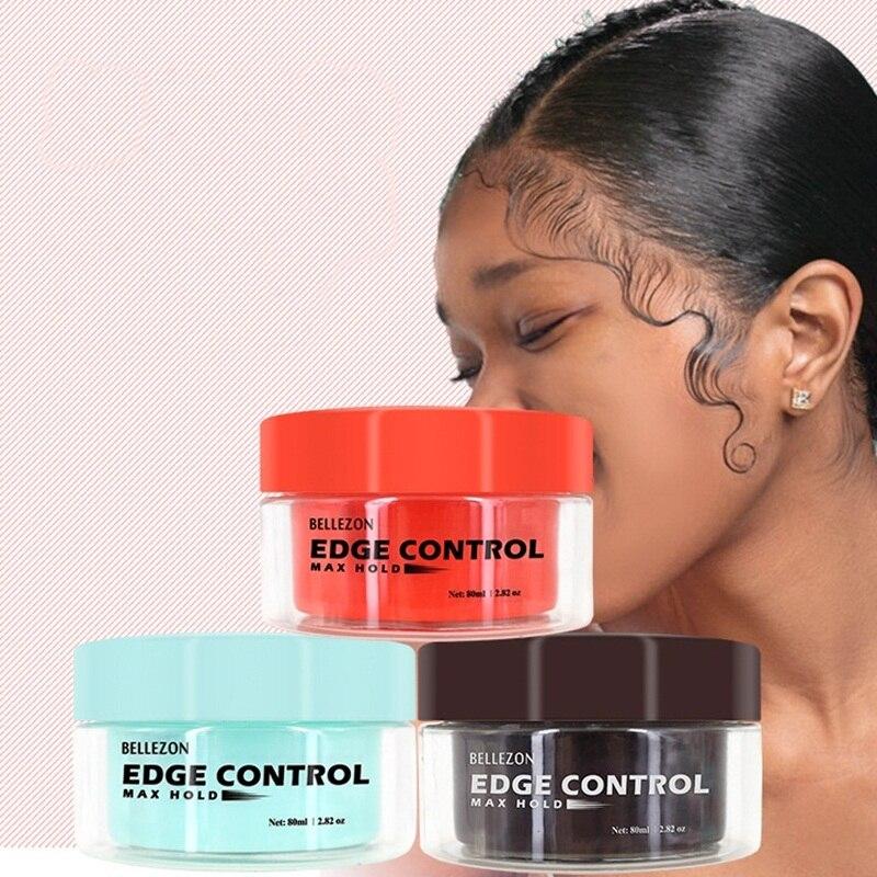 GUJHUI Men Female Hair Oil Wax Cream Edge Control Hair Styling Cream Broken Hair Finishing Anti-Frizz Hair Fixative Gel