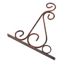 Железный садовый настенный светильник подвесной цветочный горшок кронштейн крюк Держатель для полки стойки красная медь