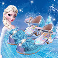 35% New arrivel Elsa Sandals 2017 summer fish head princess shoes girls snow queen Elsa shoes Children girl 4 color sandals