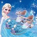 35% New arrivel Elsa Sandals 2017 summer fish head princess shoes girls snow queen Elsa shoes Children girl 4 color sandals