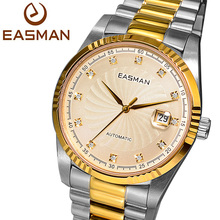 Easman марка часы мужчины золото роскошных часов 2015 винтовой резьбой сапфир высокое золотой стиль автоматические механические наручные мужские часы