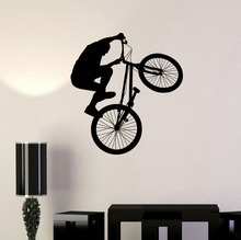 Free shipping BMX bike Extreme sports PVC vinyl wall stickers Art Mural decals bedroom home decor F-109