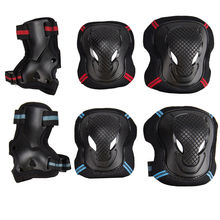 6PCS Protector Skateboard Roller Blading Elbow Knee Wrist Safety Gear Pad Guard