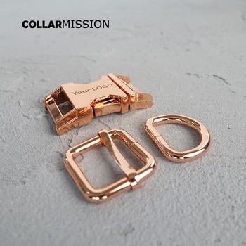 100sets/lot (metal buckle+adjust buckle+D ring/set) diy dog collar 20mm engraved buckle laser engraving service customize LOGO фото