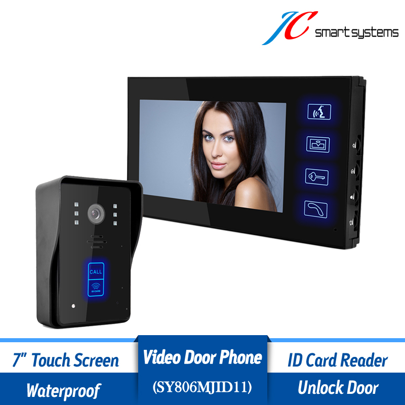 7 LCD Monitor Video font b Door b font Phone Intercom Doorbell With Night Vision Security