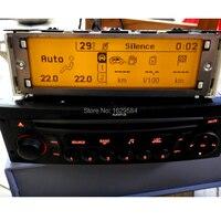 Suporte automático do carro original usb  display bluetooth amarelo lcd monitor 12 pinos para peugeot 307 407 408 para citroen c4 c5|Visor 'head-up'| |  -
