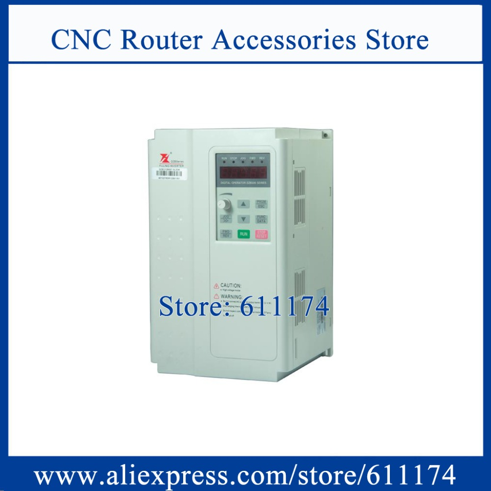 FULING Frequency VFD inverter 7 5Kw AC220V 0 1000HZ DZB312B007 5L2DK frequency inverter Special for spindle