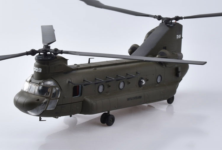 1/72 Kids Toys Diecast Army Green Boeing CH-47 Chinook Helicopter Plane Toy Fighter Model Toy Gift For Children