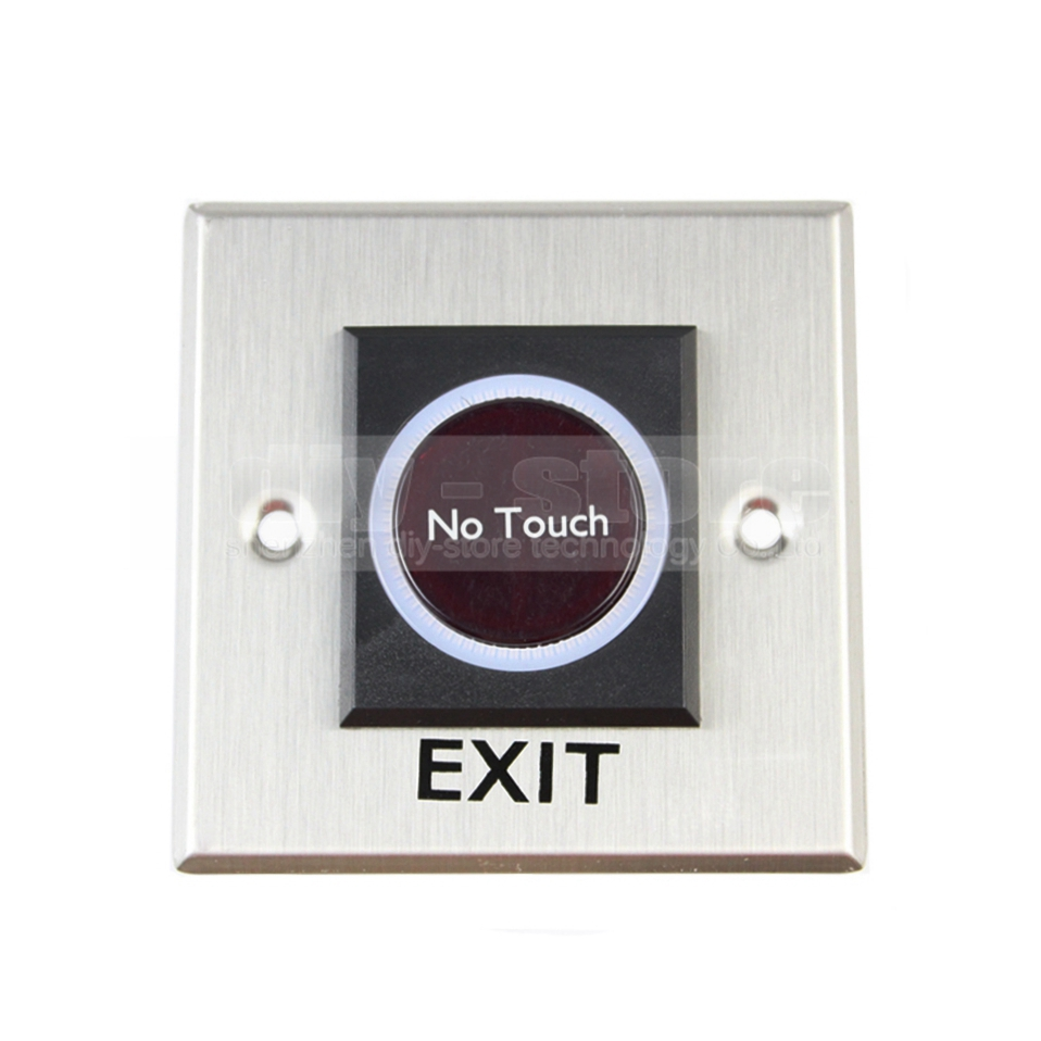 DIYSECUR Exit Button Infrared No Touch Induction Switch Style / Access Switch / Exit Switch for Access Control System exit