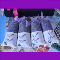 5Pcs Linen Cotton Drawstring Gift Pouch Elegant Bag 11 5X6CM Lavender Natural Color Adjustable Packing Small