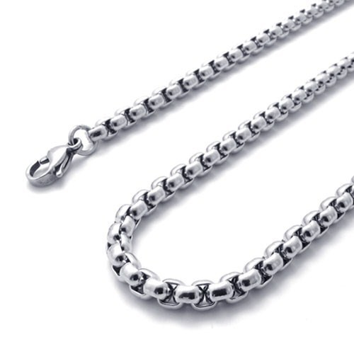 Width: 4.50MM, Fashion 316L Stainless Steel Cool Men Long Link Chain Necklace for Good Gift