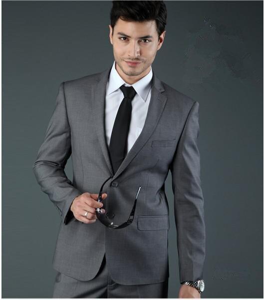 b322308e1368c Custom Made İngiltere Stil Smokin erkek Suit Balo Suit Sağdıç Düğün  Takımları (Ceket + Pantolon