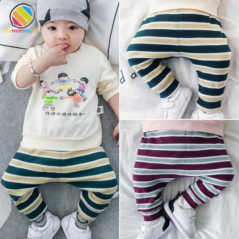 Lemonmiyu Pants Trousers Baby Leggings Toddler Newborns Harem Spring-Cotton Casual Striped
