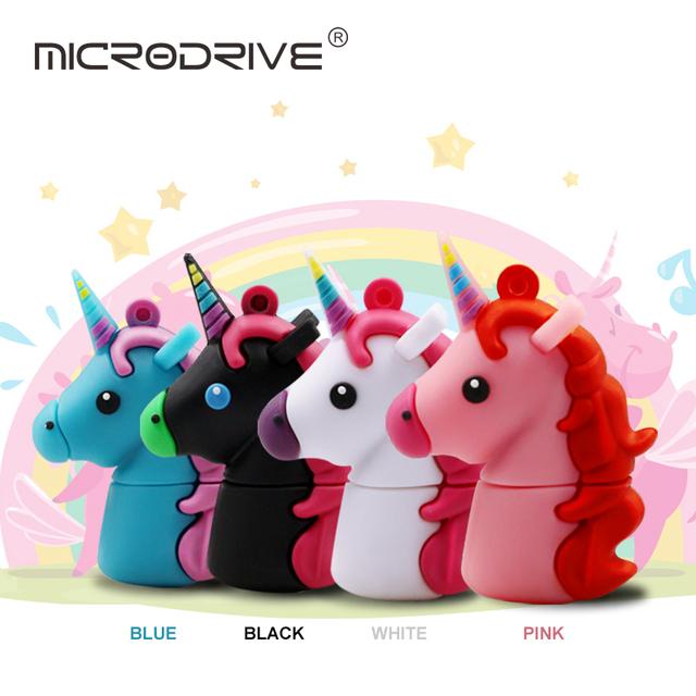 Colorful Unicorn USB Flash Drive 32GB 64GB Pendrive 16GB 8GB Waterproof Pen Drive USB 2.0 USB Stick Memory Stick USB Flash