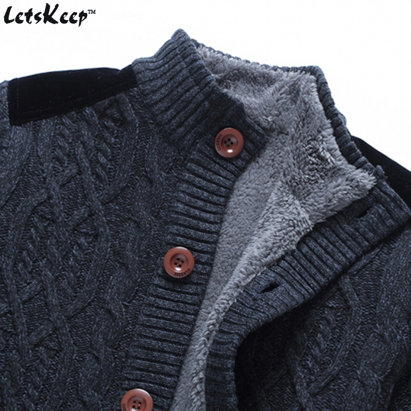 New LetsKeep 2016 mens fleece cardigan sweaters casual strickjacke ...