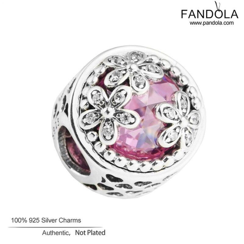 100% 925 Sterling Silber Perlen Dazzling Daisy Wiese Charms Für Diy Charme Armband Frauen Schmuck Machen Förderung Hochwertige Materialien