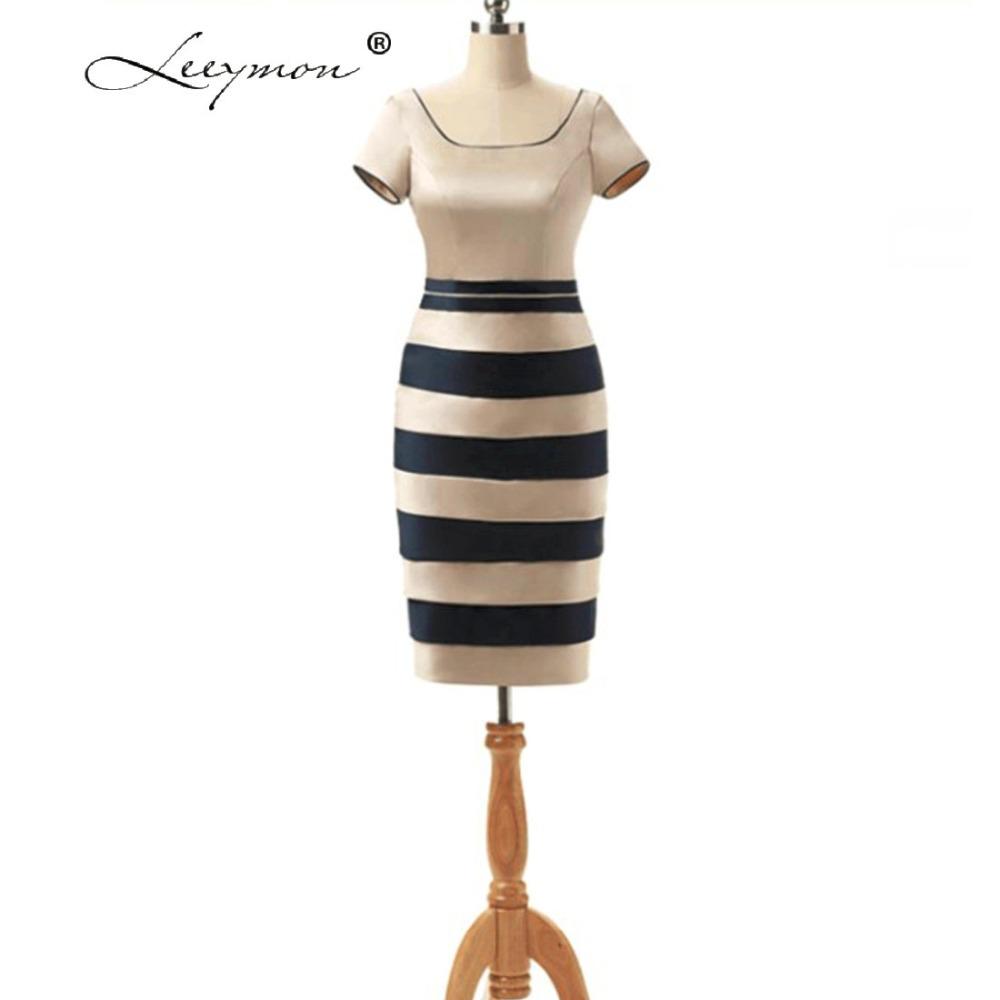 Leeymon Plus Größe Striaght Knielangen Mutter der Braut Kleider Mit ...