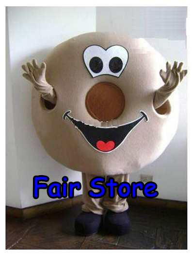 Professional Donut Mascot Costume Nonut Food Characters Costume Halloween Kids Party Gift Dress ,EMS Free Shipping SW180