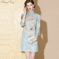 Qipao traditional Chinese oriental dress women cheongsam sexy modern Chinese dress qi pao female ladies asian dress V1332