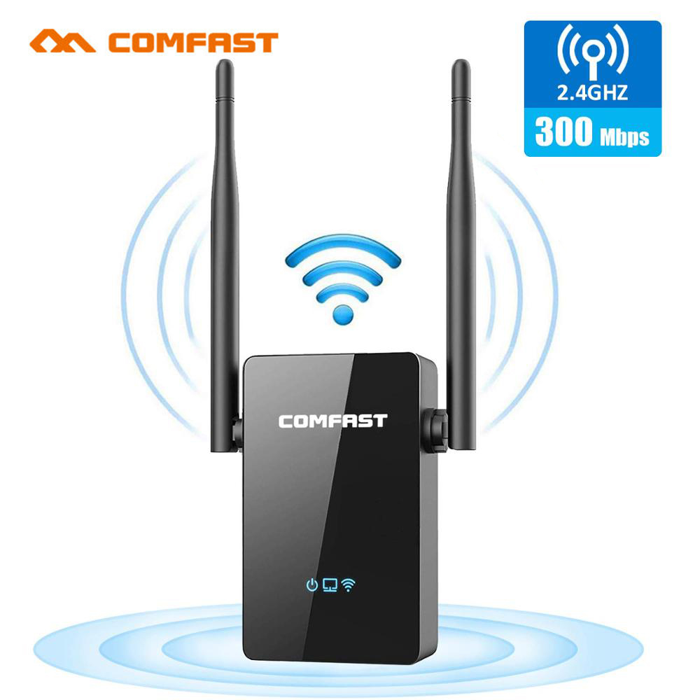 COMFAST WiFi Range Extender 300Mbps Repeater/Router/AP WR302S 5dBi Dual External Antennas 2.4GHz WiFi Extenders Signal Booster