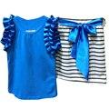 Lovely Children's Clothing Girls Vest Suit Striped Skirt Suit Girl, Kids Wear Girl Clothing Set Free Shipping