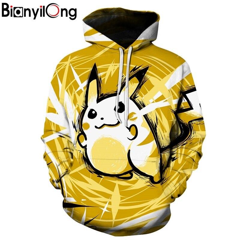 Pokemon Mężczyźni Bluzy 3D Drukowane Bluza Streetwear Męskie