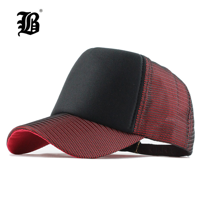 Summer Hat Baseball-Cap Mesh Trucker Snapback Dad-Hat Hip-Hop Camouflage-Bone FLB Masculino