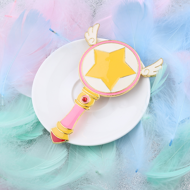 Combs Free Shipping Cute Sailor Moon/cardcaptor Sakura Comb Mirror Beauty Bird Magic Wand Angel Wings Comb Women Birthday Gift Jewelry