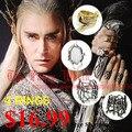 Hobbit elf Rey Thranduil Anillos de cuatro 4 anillos set Bosque Negro LOTR el señor de los anillos hombres joyería anillo del ventilador regalo