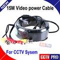 15 M 50FT CCTV Cabo BNC Video Power Cable para CCTV Cabo Da Câmera de Segurança de Vigilância DVR