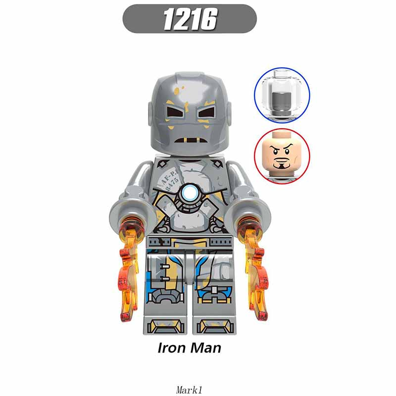 Single Sale Legoinglys Avenger 4 Endgame Iron Man Mark 1 Mark 85 War Machine Assembling Building Blocks Kit Toys Children Gifts