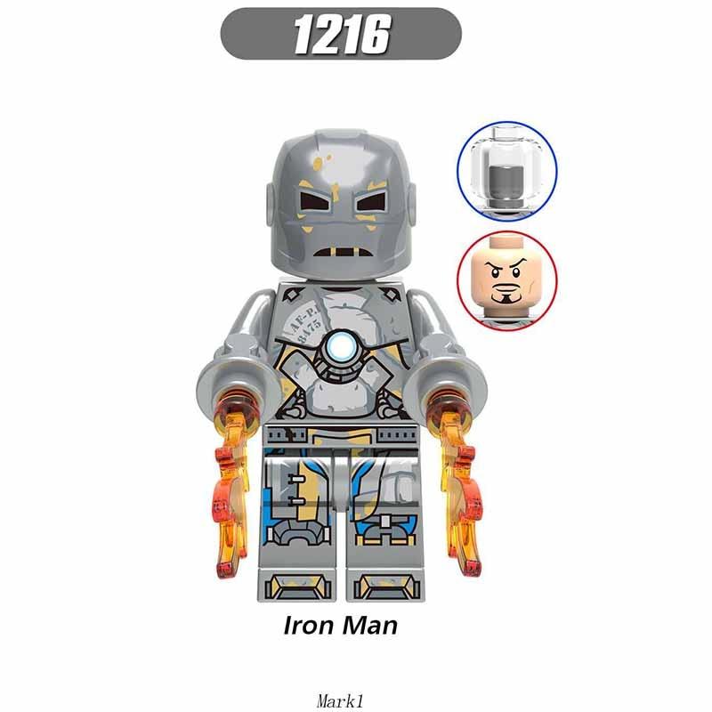 Single Sale Legoinglys Avenger 4 Endgame Iron Man Mark 1 Mark 85 War Machine Assembling Building Blocks Kit Toys Children Gifts
