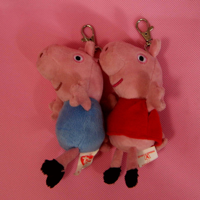 """New Arrival 2013 Brand New  Peppa Pig &George Pig Keychain Plush Toy 5"""" Free Shipping"""