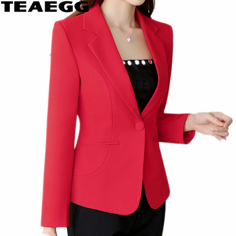 Printemps Teaegg red blazers Mujer Femmes Bouton jacketsal763 Women and Automne White court yellow Feminino blazers Rouge Haute Qualité Bureau Un Blazer black wAwpF