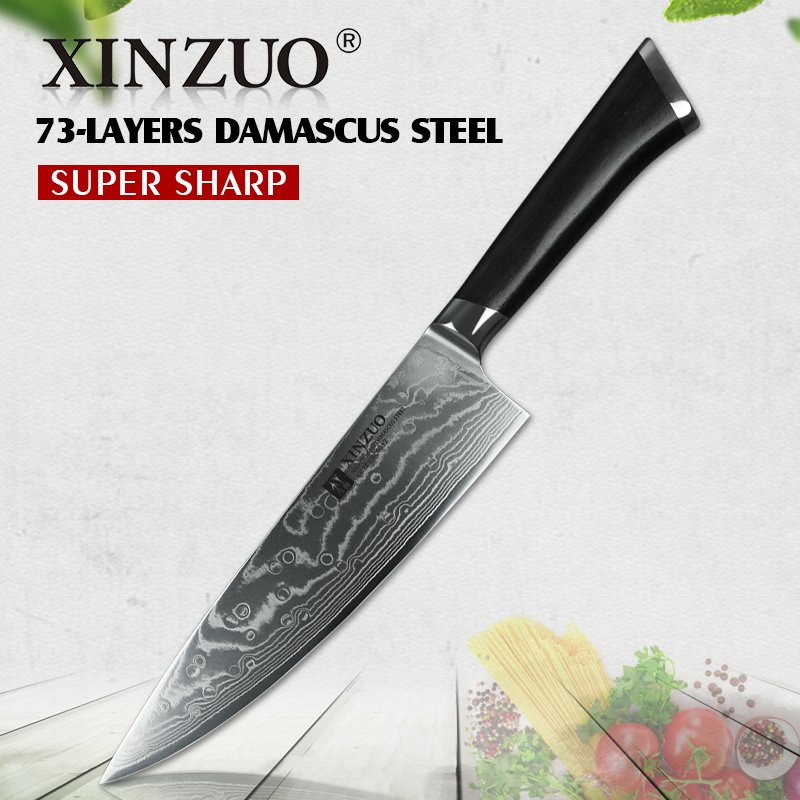 XINZUO 8 Chef s Knife 73 layers Japanese Damascus Kitchen Knife Kitchen Stainless Steel Tool Gyuto