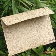 5 штук в партии крафт-бумаги классический ретро Винтаж Цветочная кружева конверты для карты творческий подарок корейской канцелярские Бесплатная доставка 805