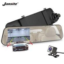 Jansite Car DVR Dual Lens 1080P Display White Car Camera Video Recorder Mirror With Rear view DVR Dash cam Vehicle Reverse image