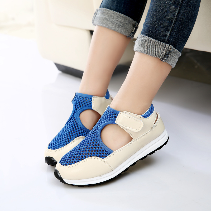 2018 Soft New Fashion Summer Children Shoes Air Mesh Boys & Girls Sandals Breathable Cut-outs Kids Sneakers Unisex EU 21-36 kids summer girls sandals boys children sandals summer shoes boys cut outs kids canvas girls summer breathable flats shoes
