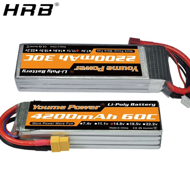 Youme <font><b>Lipo</b></font> Battery 3S 11.1V 2200mah 4S 14.8V 4200mah <font><b>6000mah</b></font> <font><b>6S</b></font> 22.2V RC Racing Airplanes Cars Truck Boat Parts 50C T Deans XT60 image