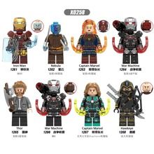 X0258 AvengersING Marvel character LegoINGls iron Man nebula Surprise captain war Raytheon Hawkeye uniform child Collection toy