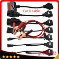 OBD OBD2 full set car 8  cables work for tcs cdp pro plus Ds150e ds150 Car Cable diagnostic Tool Interface cable